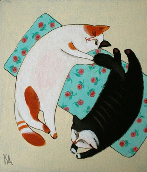 By Kalinkina Dina 2009 Illustration Chat