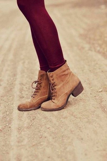 shoes brown autumn autumn outfit girly black combat boots boots tan cute vintage