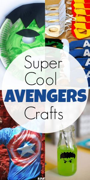 7 Super Cool Avengers Crafts Blissfully Domestic Diy