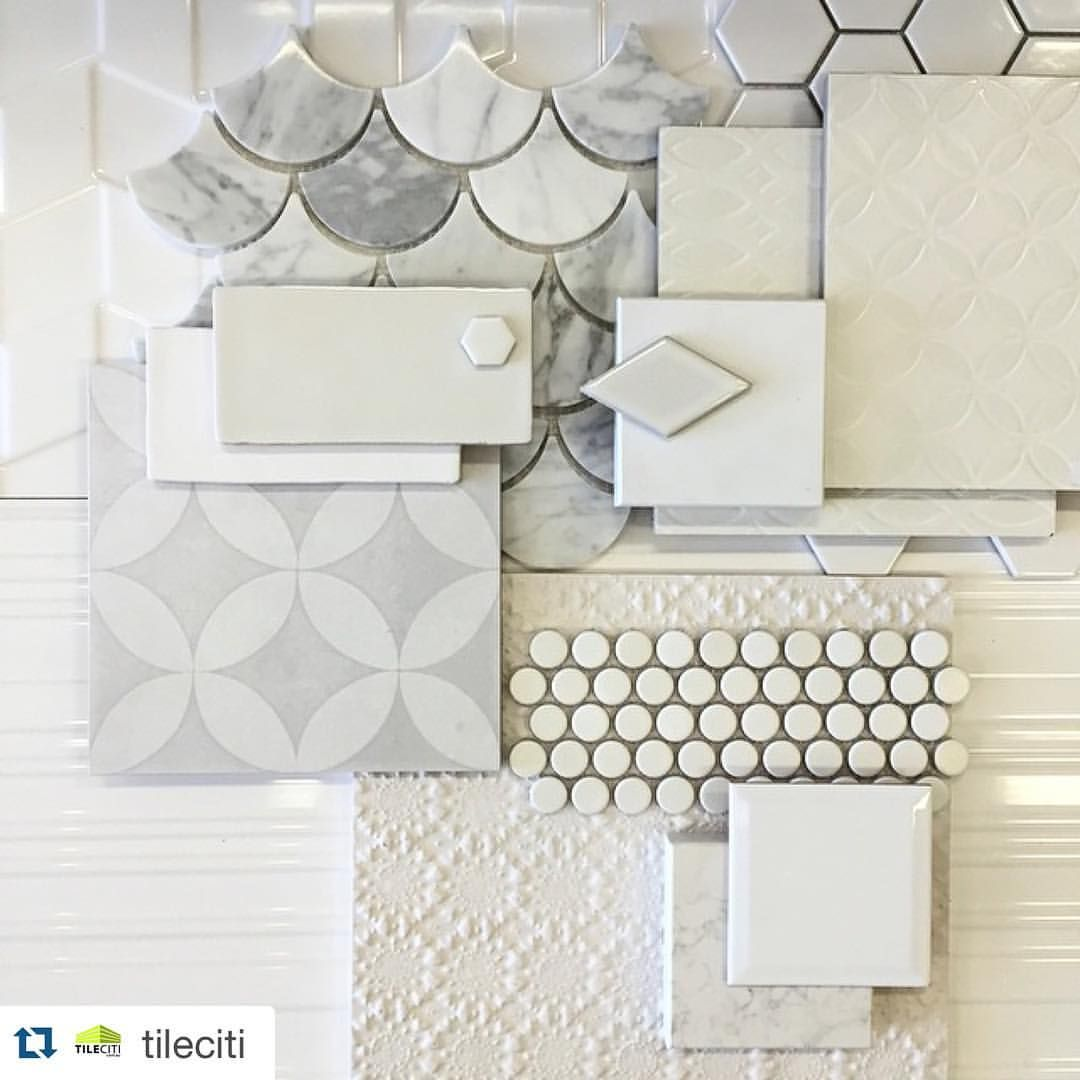Classic || White on White || Fish scale tile | Home - Patterns ...
