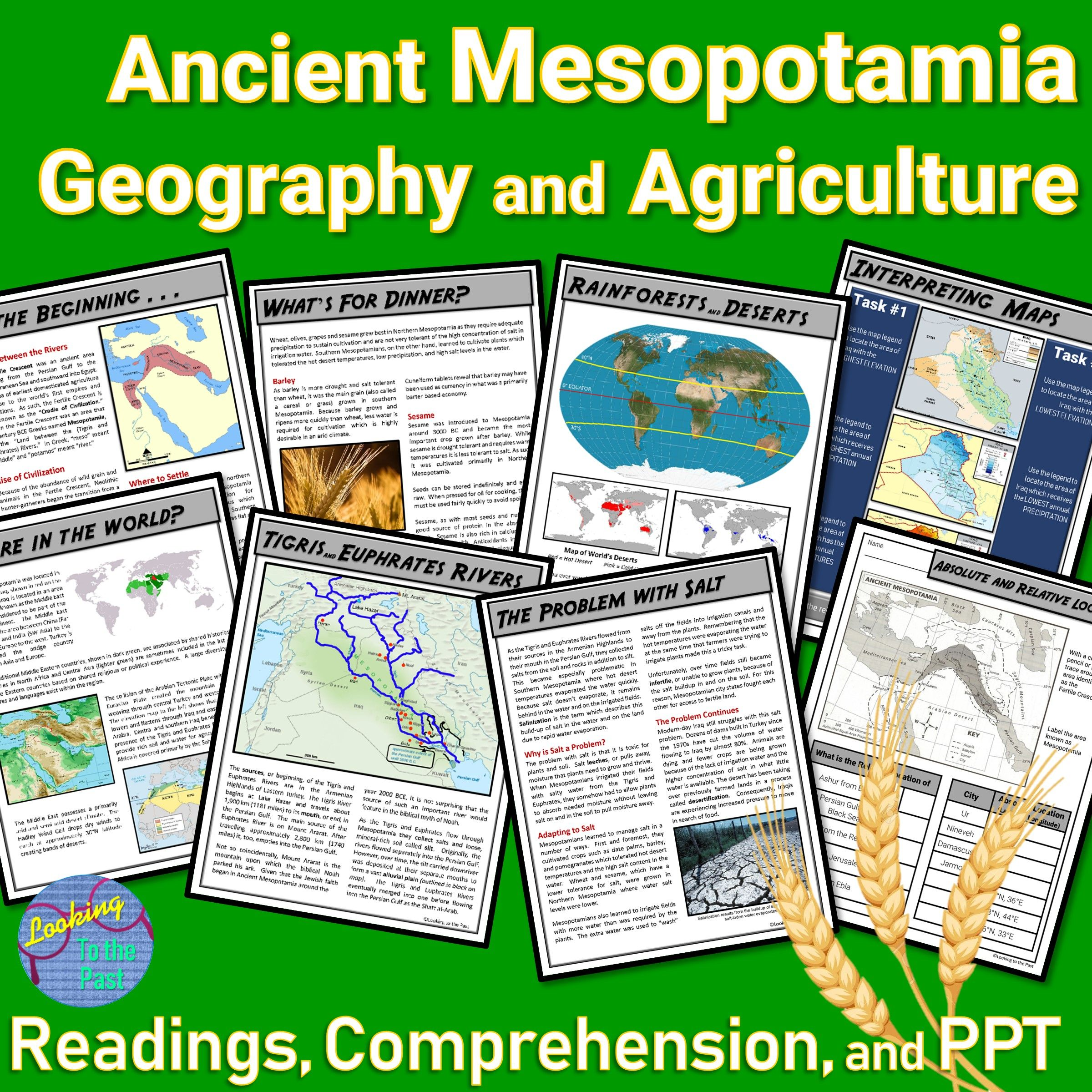 Ancient Mesopotamia Geography Reading Amp Comprehension
