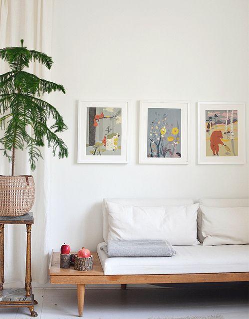 10 ideas para decorar con cuadros sobre el sofá Sobre el sofá - cuadros para decorar
