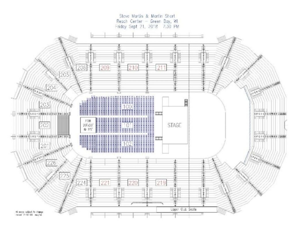 Resch Center Seating Chart Seating Charts Chart Seating