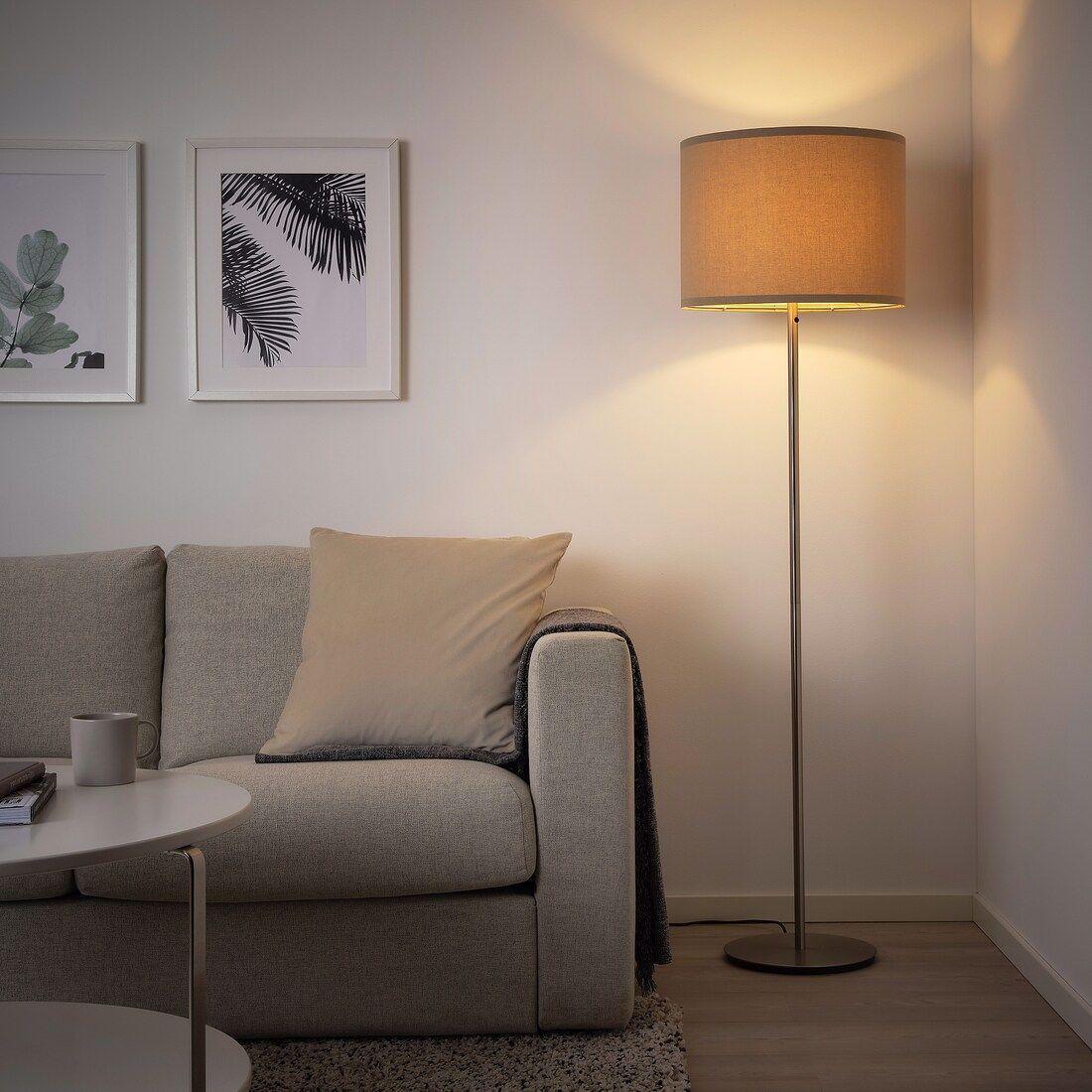 RINGSTA Lamp shade beige IKEA in 2020 White floor