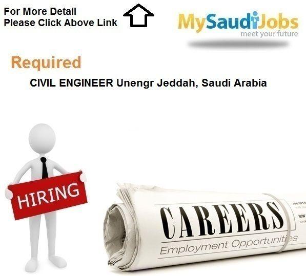 Required Civil Engineer Unengr Jeddah Saudi Arabia Executive Jobs Riyadh Saudi Arabia