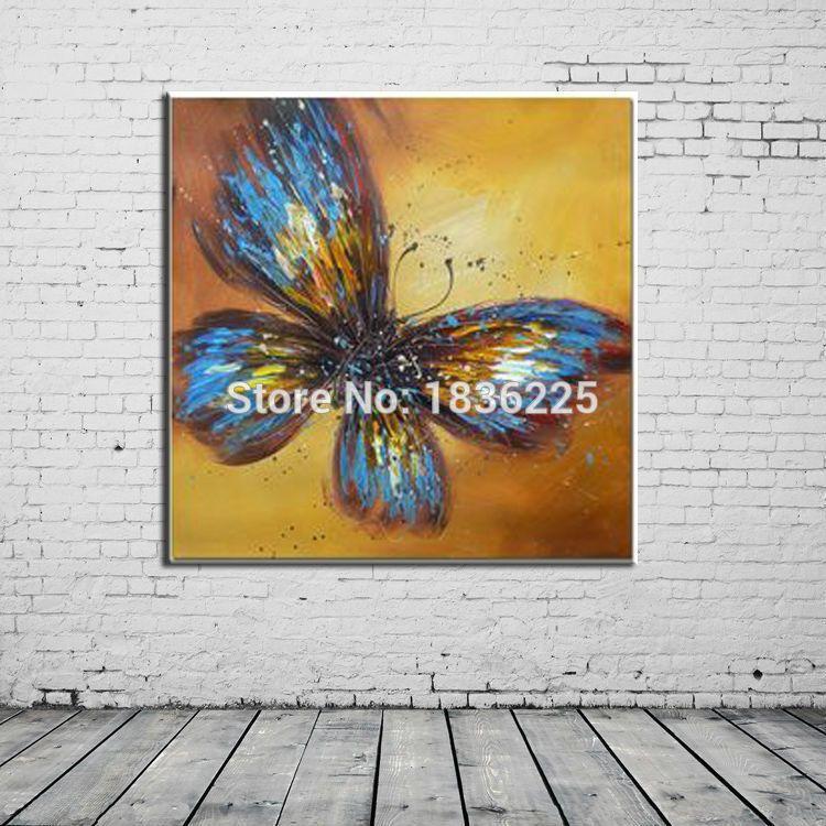 Abstrakte Moderne Malerei Schmetterling Leinwand Kunstwerk Dekorative Und  Moderne ölgemälde Abstrakte Gemälde Für Wohnzimmer(China