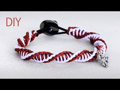 Diy macrame double spiral bracelet tutorial youtube macrame diy macrame double spiral bracelet tutorial youtube fandeluxe Images