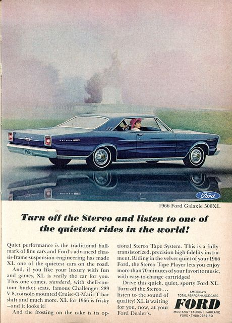 1966 Ford Galaxie 500xl Advertisement Readers Digest January 1966