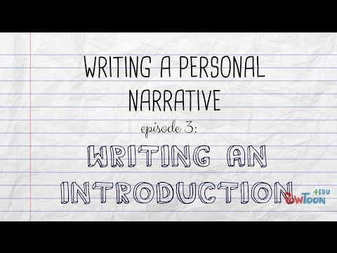 how to start a personal narrative introduction