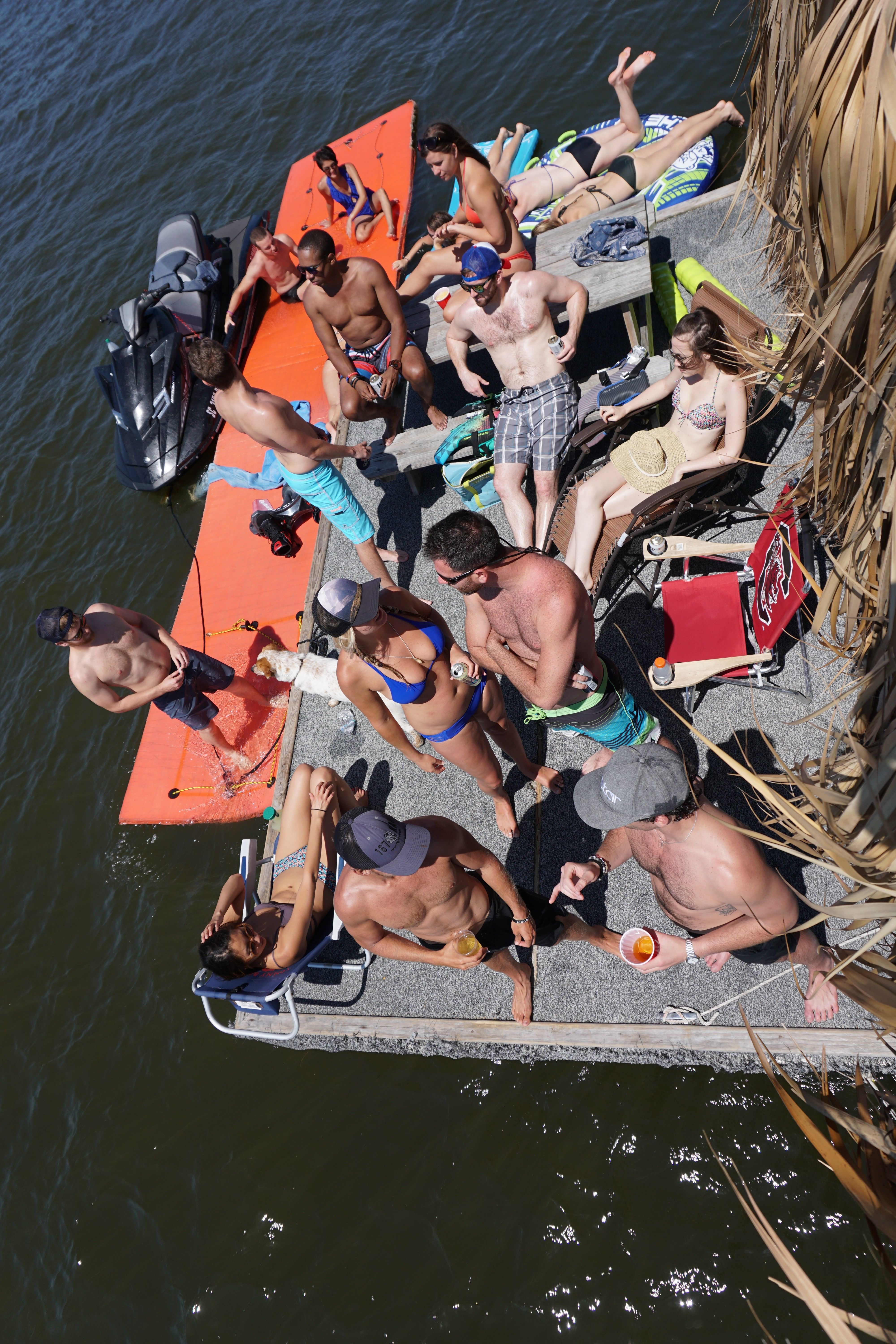 Book a tiki hut bachelor party with hydrofly watersports