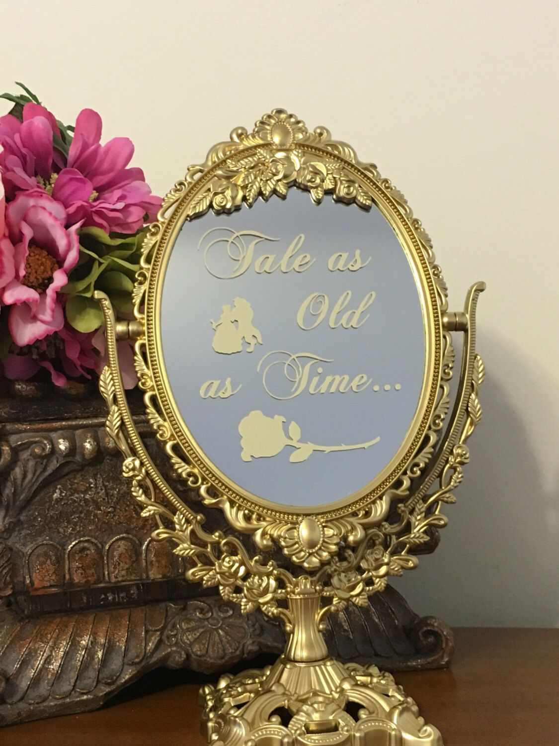 A personal favorite from my Etsy shop https://www.etsy.com/listing/473476113/tale-as-old-as-timestunning-wedding