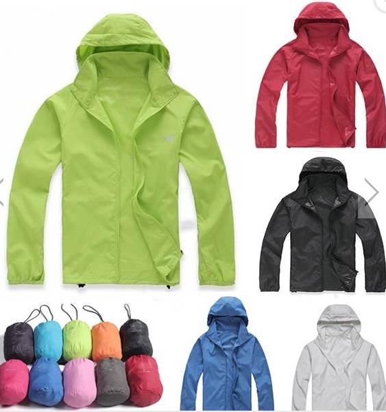 Men Women Cycling Waterproof Windproof Jacket Lightweight Hooded Rain Coats
