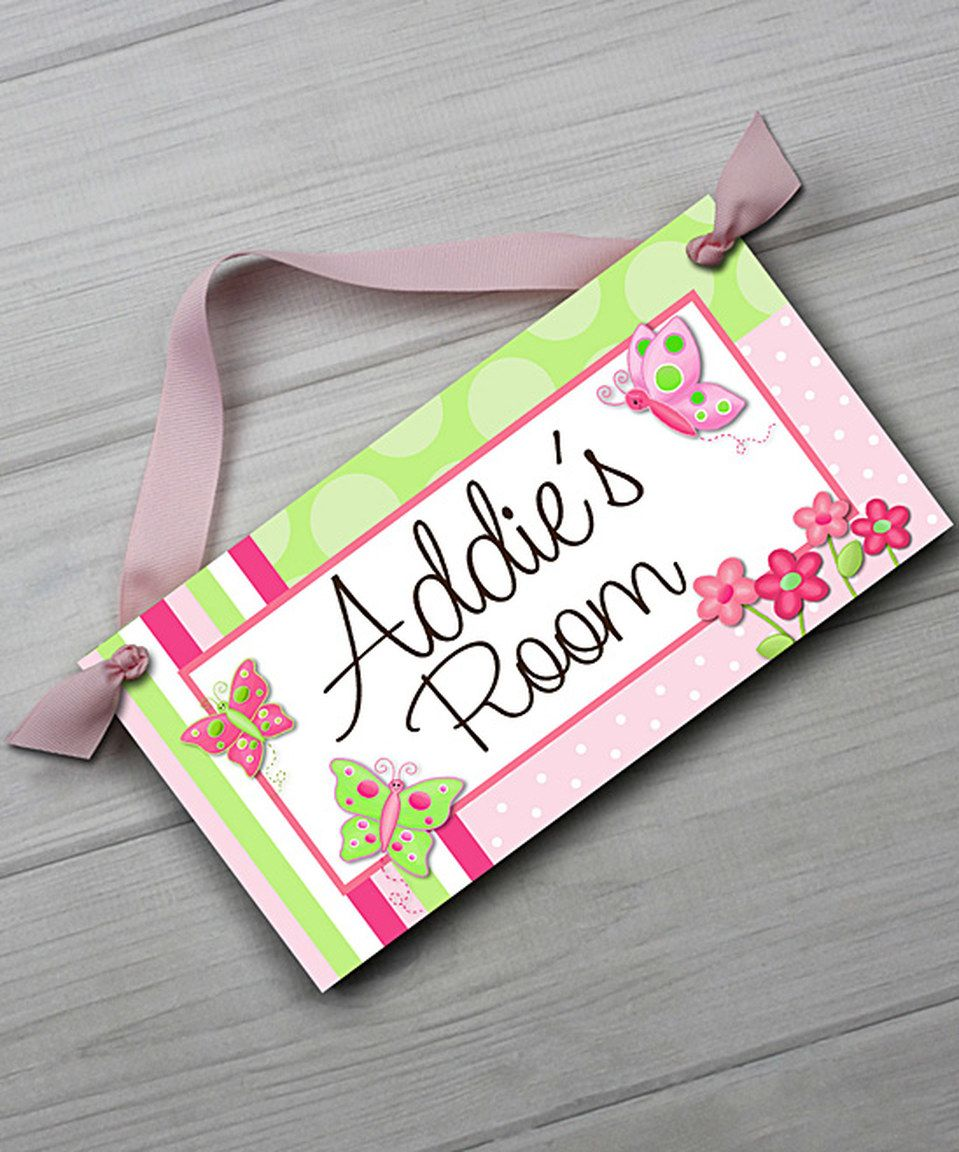 loving this pretty butterfly personalized door sign on zulily rh pinterest com au