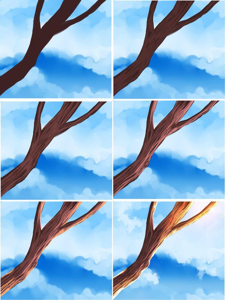 Easy Wood Tutorial By Ryky On Deviantart Digital Art Tutorial Digital Painting Tutorials Art Techniques