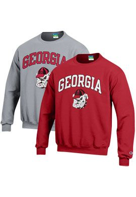 Product: University of Georgia Bulldogs Crewneck Sweatshirt   SAM ...