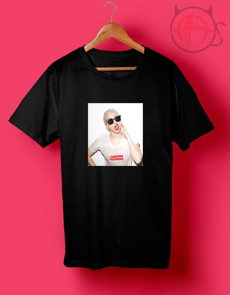 ca65e8fdf52d Cheap Custom Lady Gaga Supreme T Shirts - Agilenthawking.com in 2019 ...