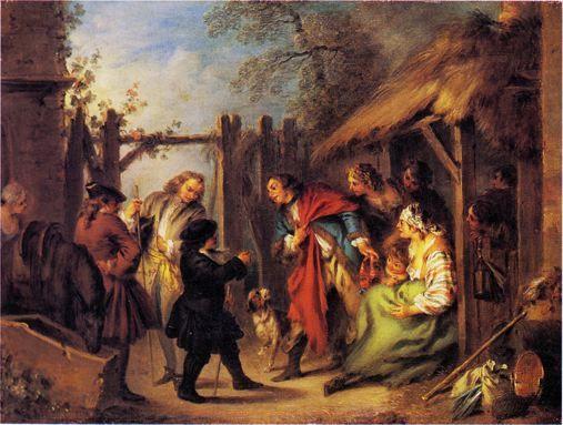 Ragotin trouve des Bohémiens dans sa maison de campagne (Roman comique) - Pater - Utpictura18