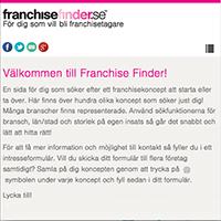 Franchise Finder Starta Eget Franchise Företag öppna Butik