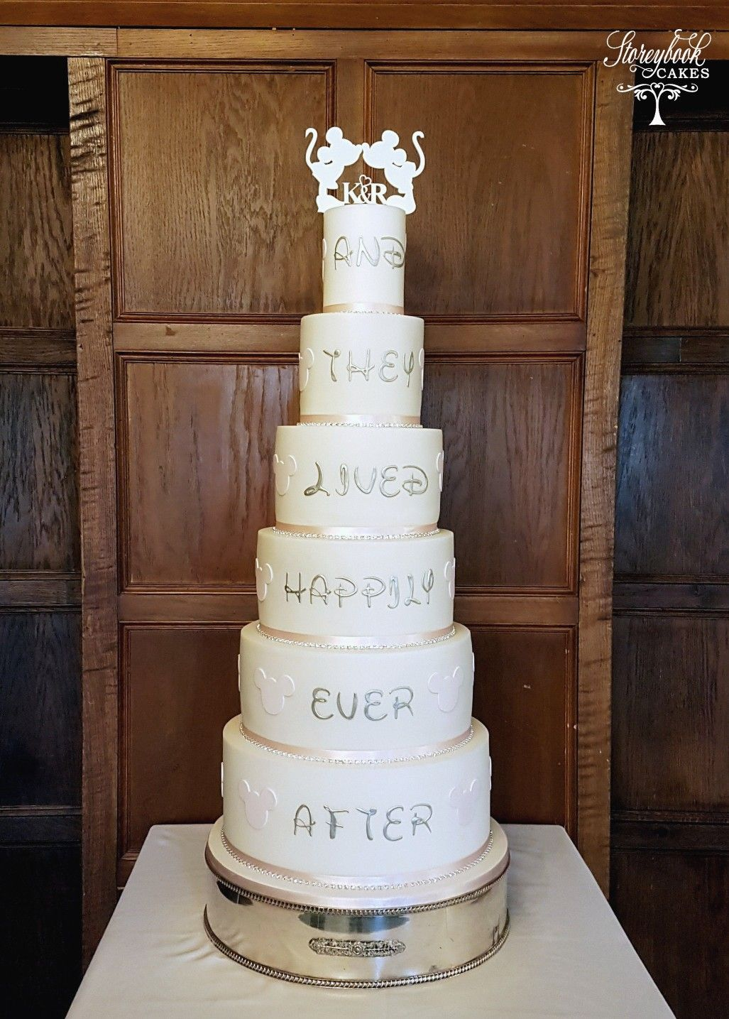 Fairytale 6 Tier Wedding Cake With And They Lived Happily Ever After Wedding Cake Enchanted Wedding Cake Images Tiered Wedding Cake