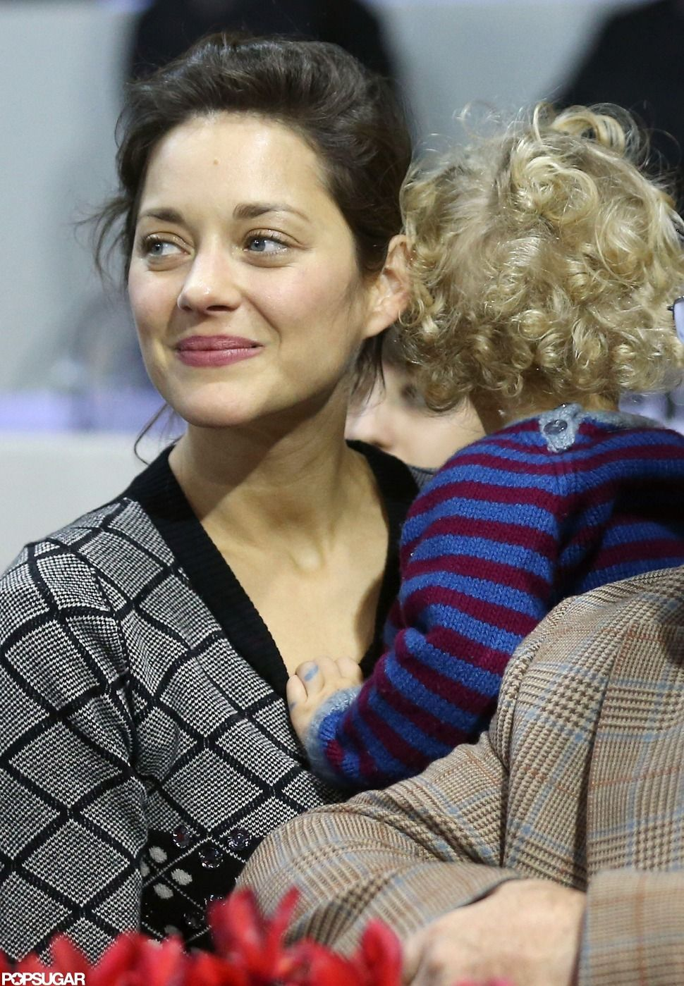Marion Cotillard with her son Marcel Canet inParis.