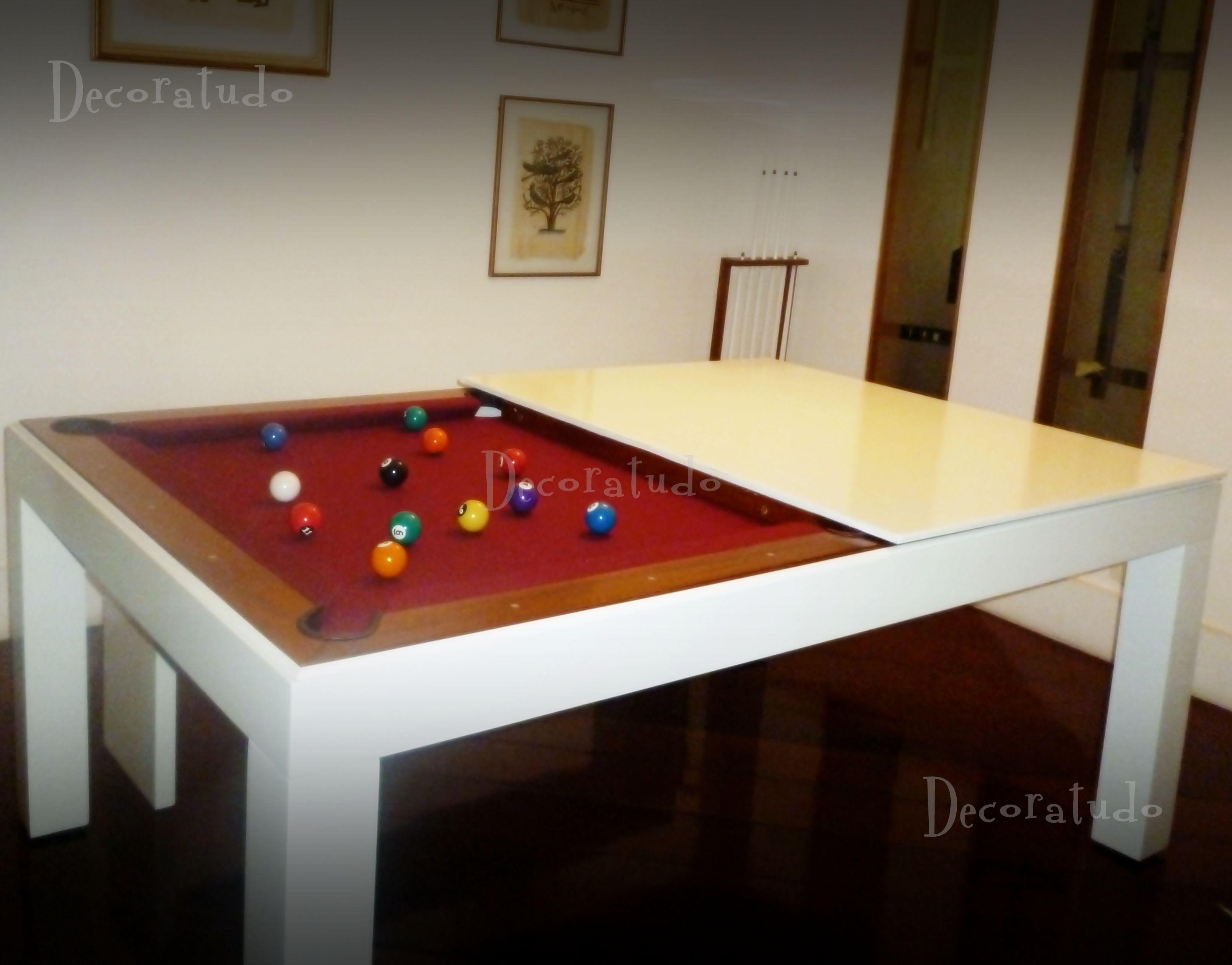 Mesa Versatile - modelo Deluxe: Mesa de Sinuca e Jantar Integradas ...