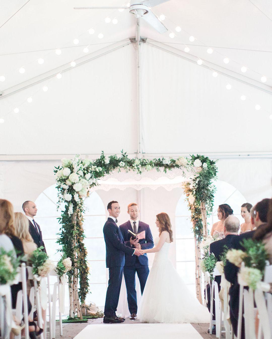 Wedding decorations tent october 2018 Gorgeous Wedding Chuppah Silver Birch Chuppah Rustic Wedding