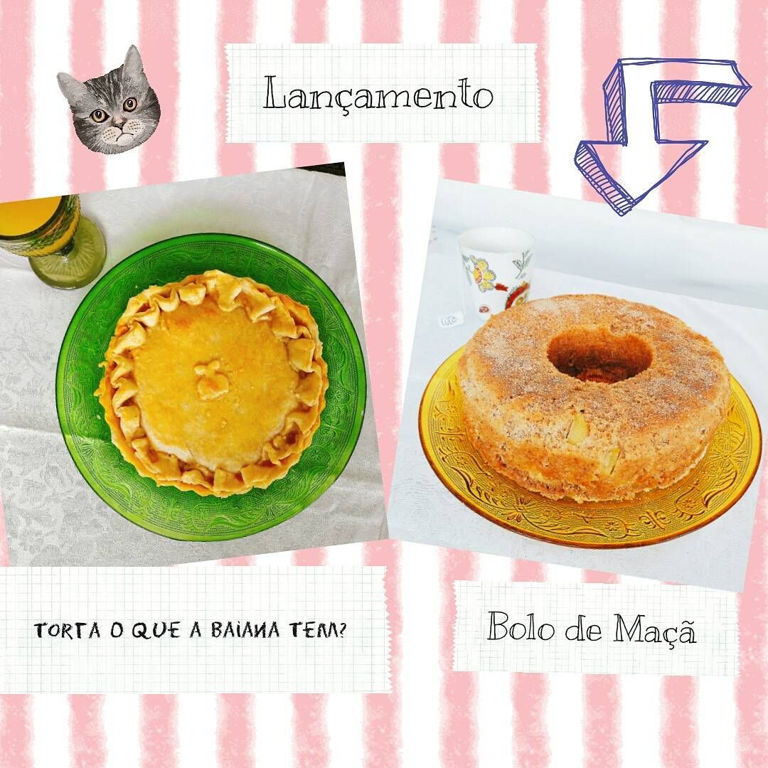 """0 curtidas, 1 comentários - Dona Manteiga (@donamanteiga) no Instagram: """"Lançamento de Março: Torta O Que a Baiana Tem? e Bolo de Maçã. Mande um mail:…"""""""