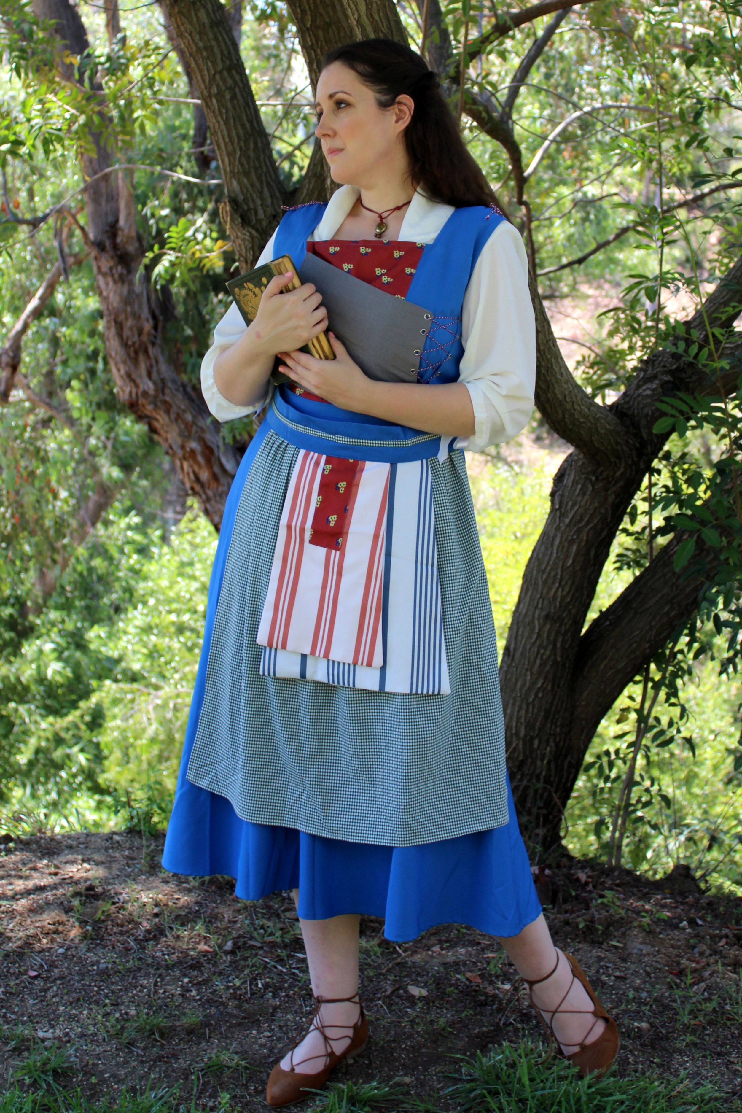 Belles 2017 live action blue peasant dress from beauty