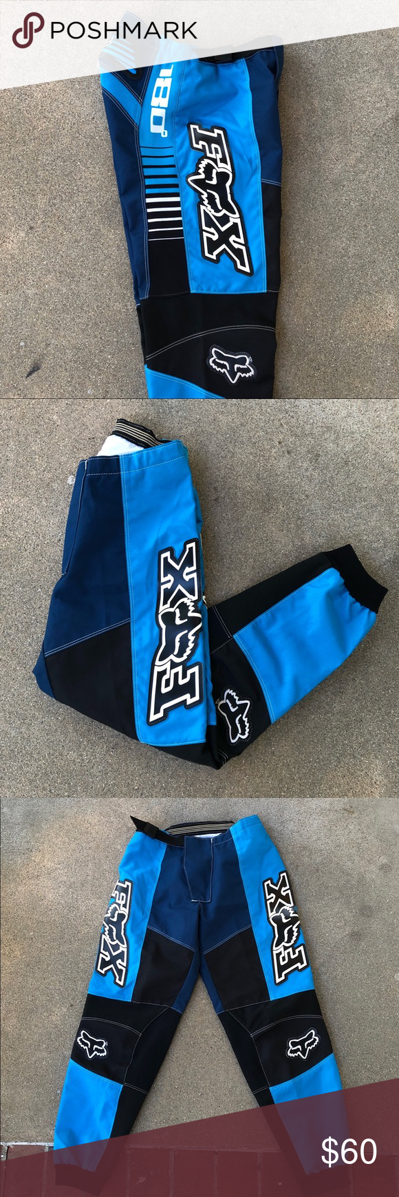 Fox Racing Motocross Pants 180 Sz 30 Fox 180 Motocross Racing Pants Great Blue Color Way Really Pops Fox Spell Out Motocross Pants Tapered Joggers Fox Racing