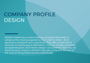 Coming Up A Strong EyeCatching Company Profile Is Important In