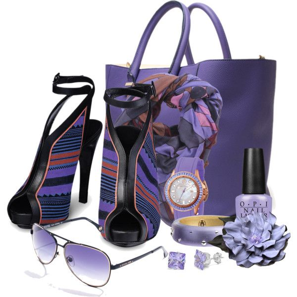 """""""Violet Accessories"""" by flowerchild805 on Polyvore"""