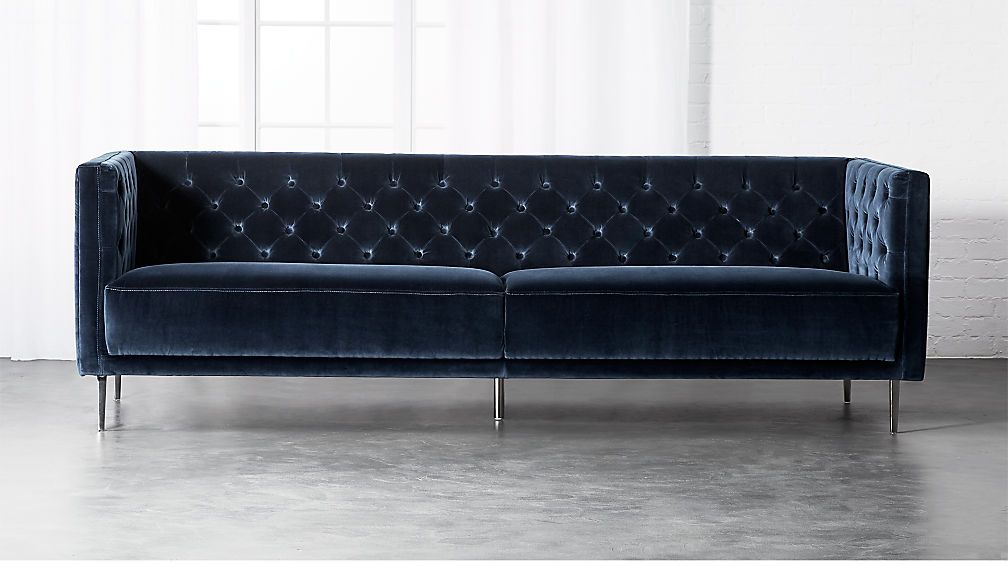 Super Savile Midnight Blue Velvet Sofa In 2019 Blue Velvet Sofa Pabps2019 Chair Design Images Pabps2019Com