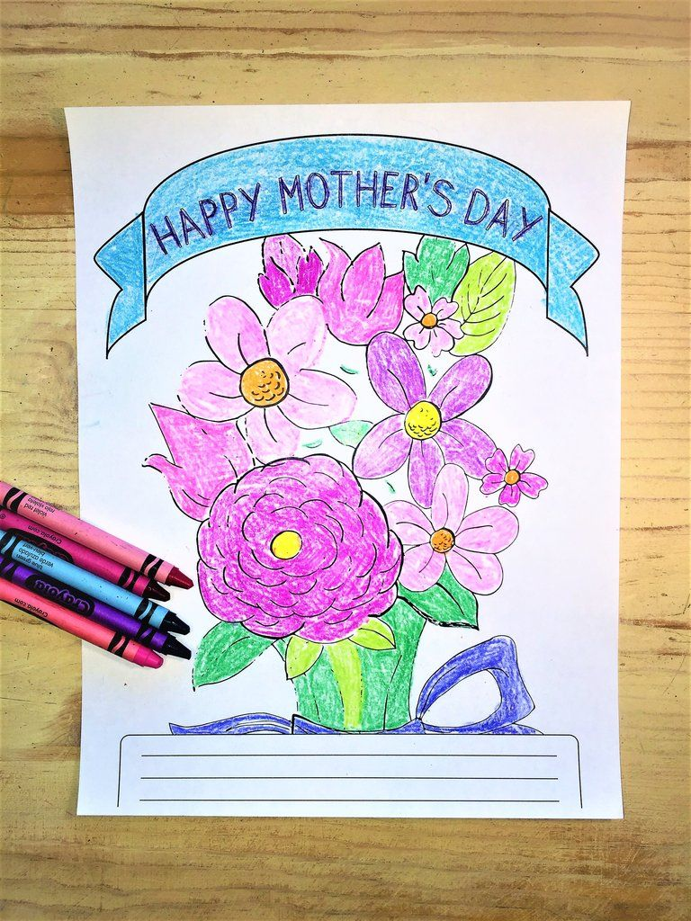 FREE Mothers Day Flowers Coloring Page