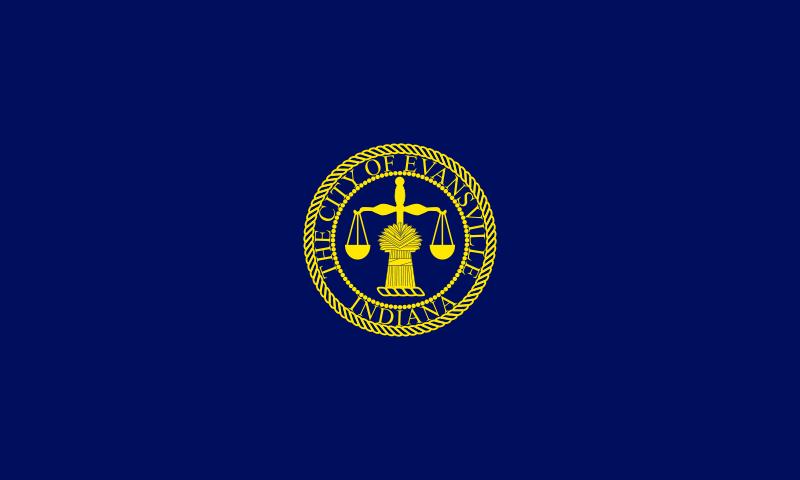 File Flag Of Evansville In Svg Evansville Flag City Flags
