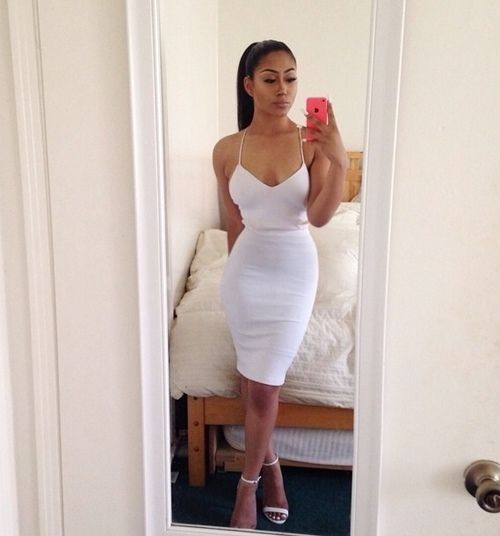 sexy classy white dress