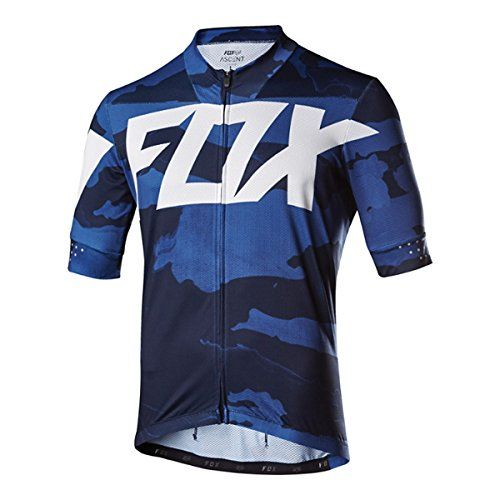 Fox 2017 Mens Ascent Creo Short Sleeve Jersey 19022 Blue Camo L
