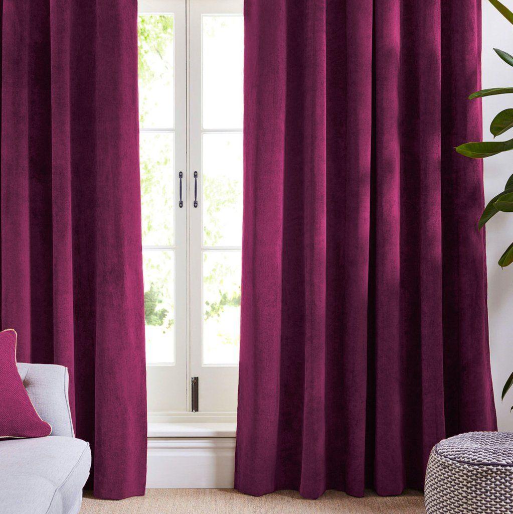 Louisiana Dark Pink Velvet Curtains Pink Velvet Curtains Pink