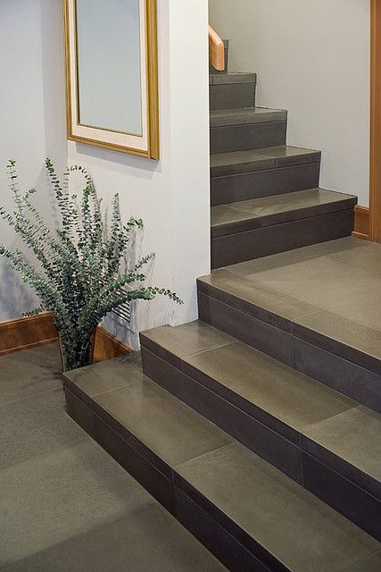 Cast Concrete 24x36 Floor Tile And Stair Treads In Shiitake Photo By Raef Grohne Solus Decor Via Flickr