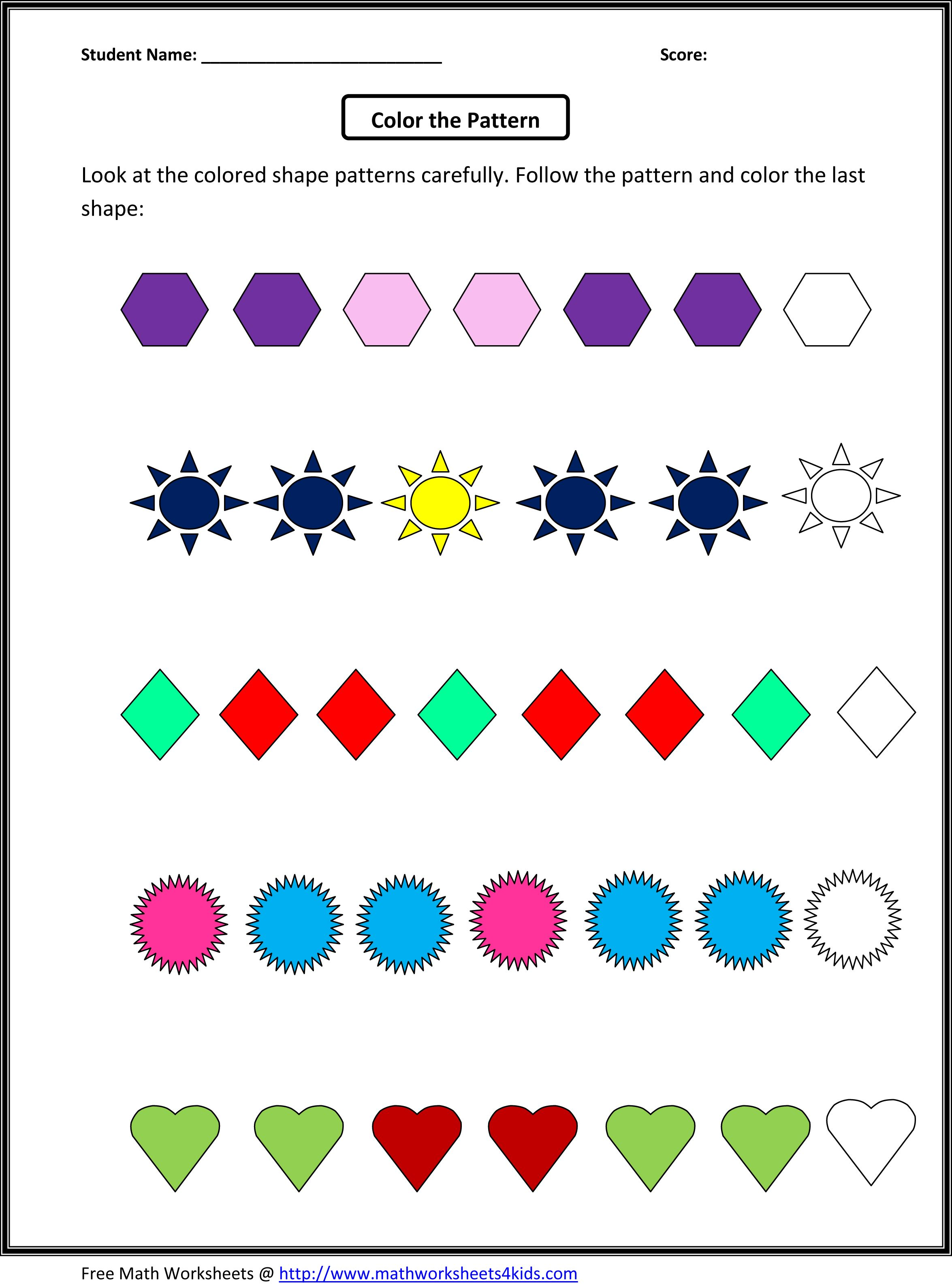 Printables Math Patterns Worksheets math patterns worksheets davezan grade 4 scalien