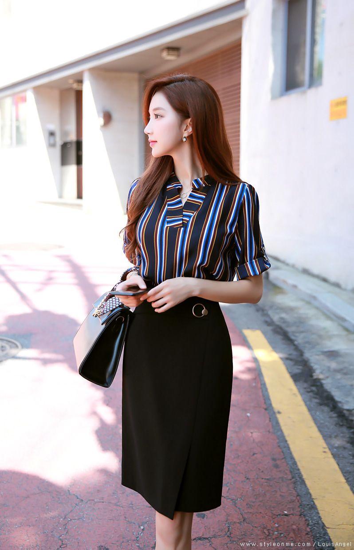 a7e41609b Slim Fit Gold Ring Detail Pencil Skirt