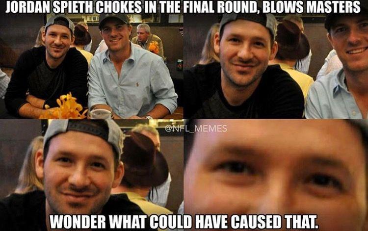 Jordan Spieth was the latest victim of the Romo curse!