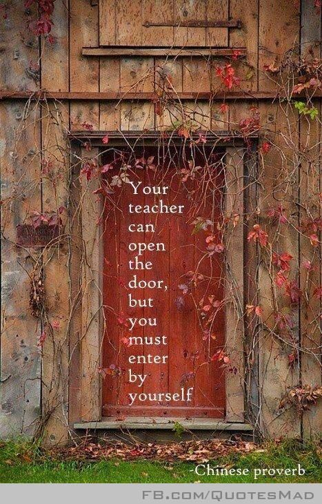 Your Teacher Can Open The Door But You Must Enter By Yourself