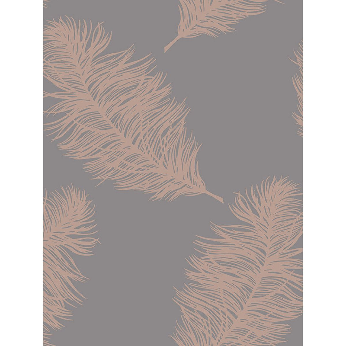 Fawning Feather Wallpaper Rose Gold Grey Holden 12629 In