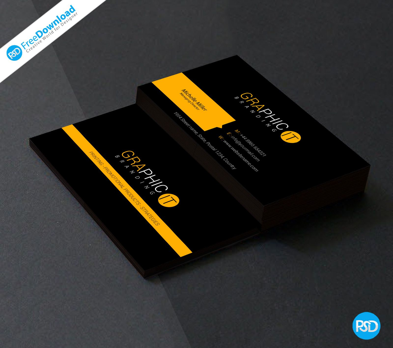 The Remarkable 150 Free Business Card Psd Templates With Free Business Card Temp Visiting Card Templates Visiting Card Design Psd Free Business Card Templates