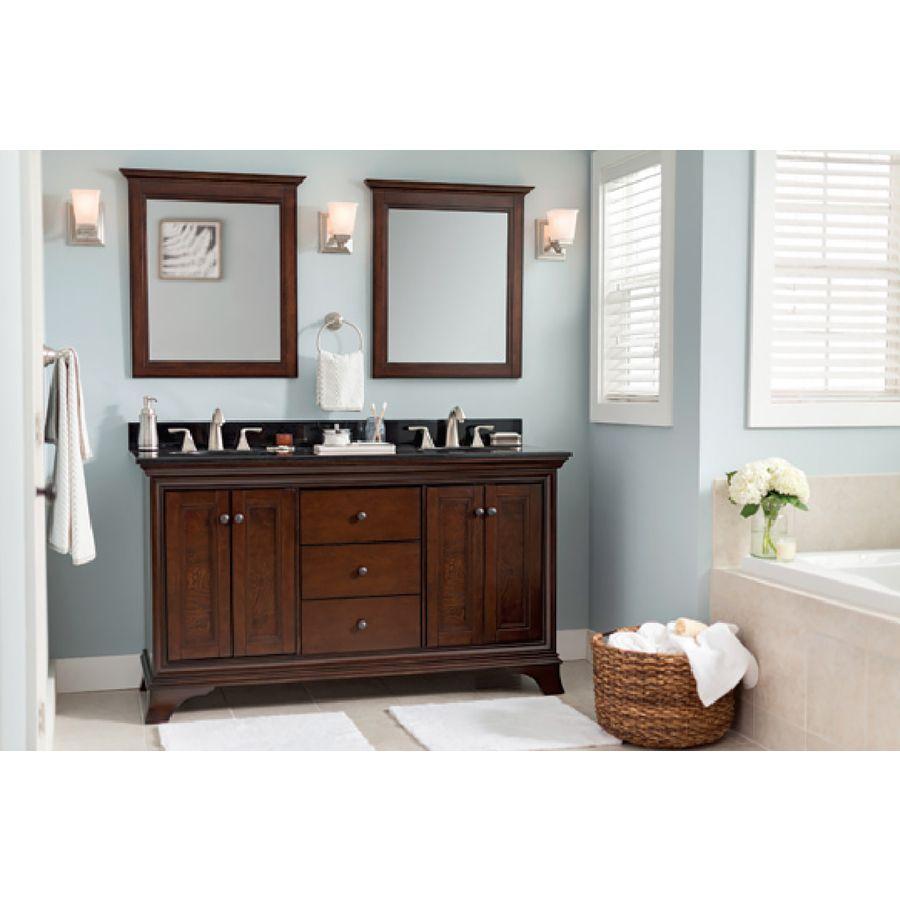 attractive Eastcott Vanity Part - 8: Shop allen + roth Eastcott Auburn Undermount Double Sink Bathroom Vanity  with Granite Top (Common: 61-in x 21-in; Actual: 60.94-in x 21.96-in) at  Lowes.com
