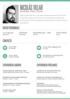 Creative Resumes  Google Search  Modern Cv Sample