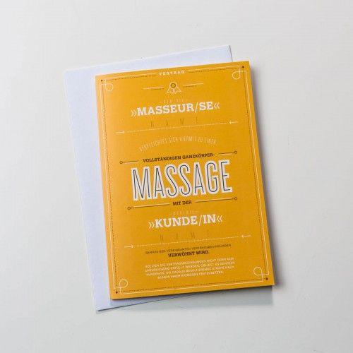 Vereinbarungskarte für Liebespaare - Massage