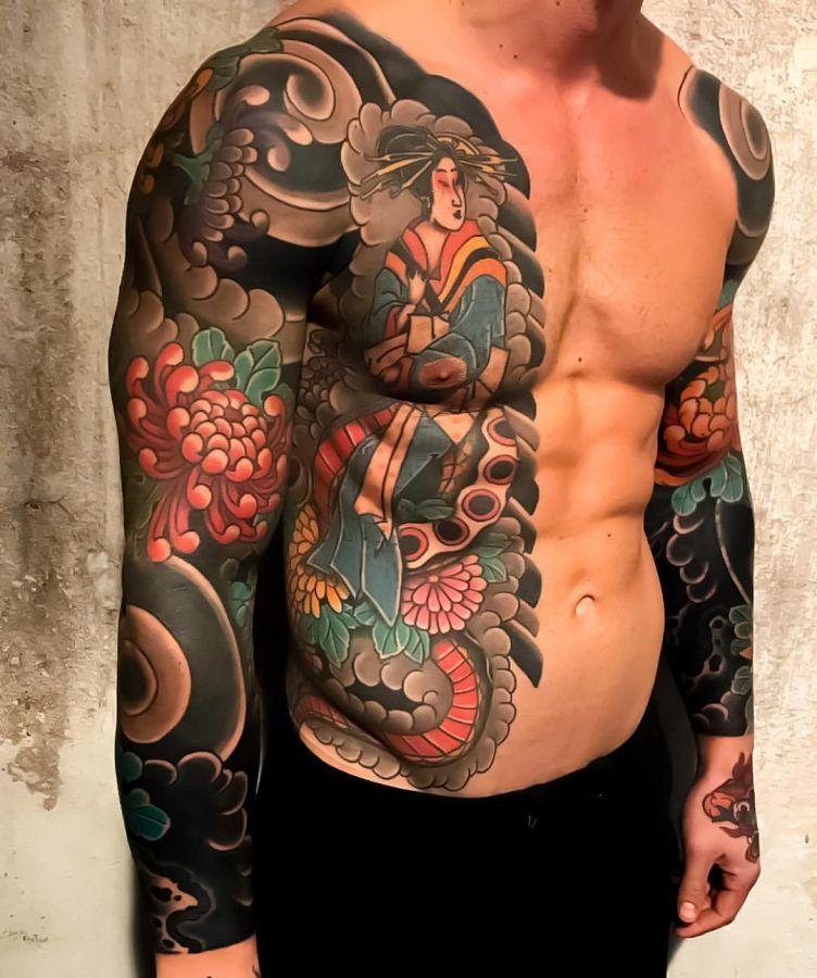 Японские тату фото мужское свежих
