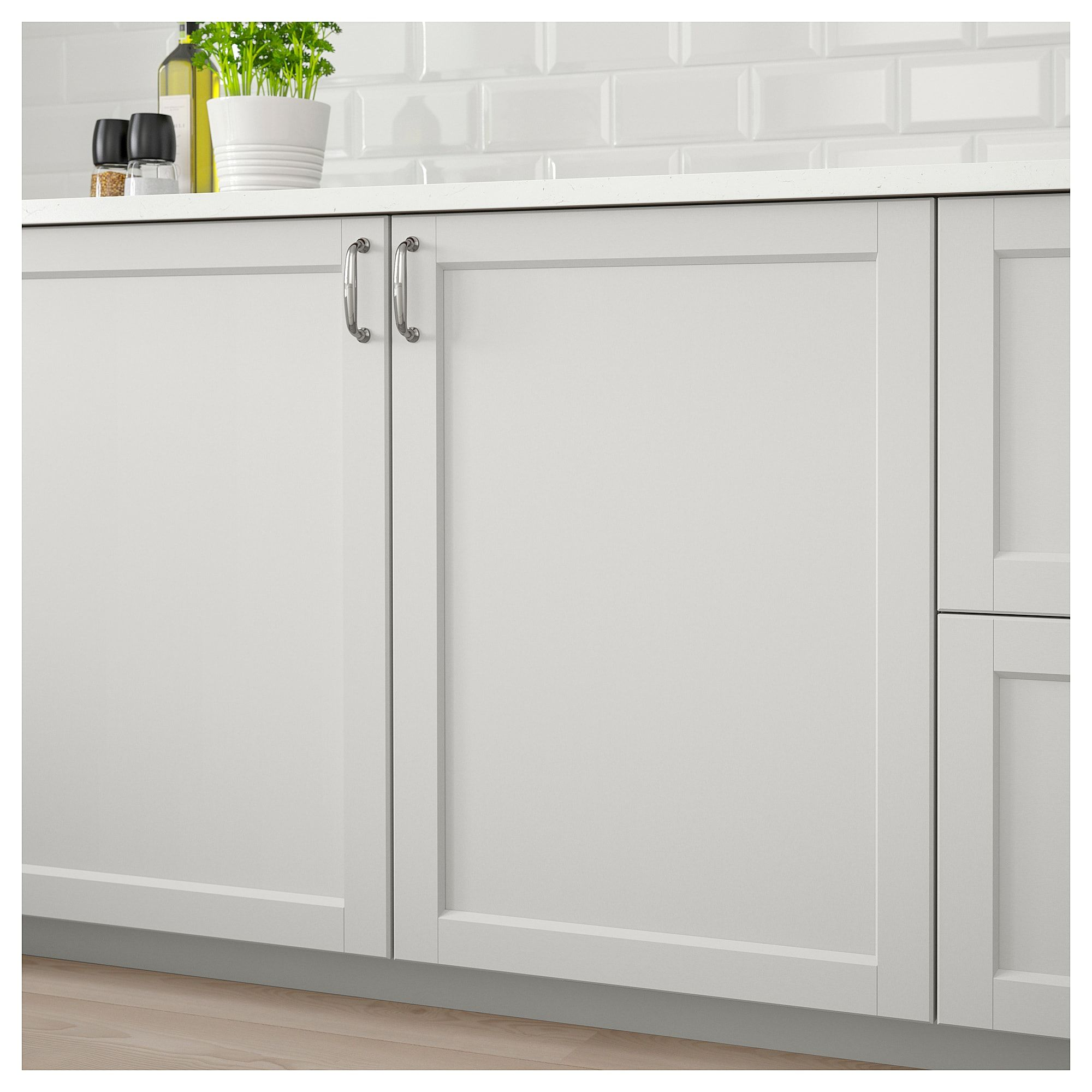 METOD Wall Cabinet With 2 Doors White/lerhyttan Light Grey IKEA