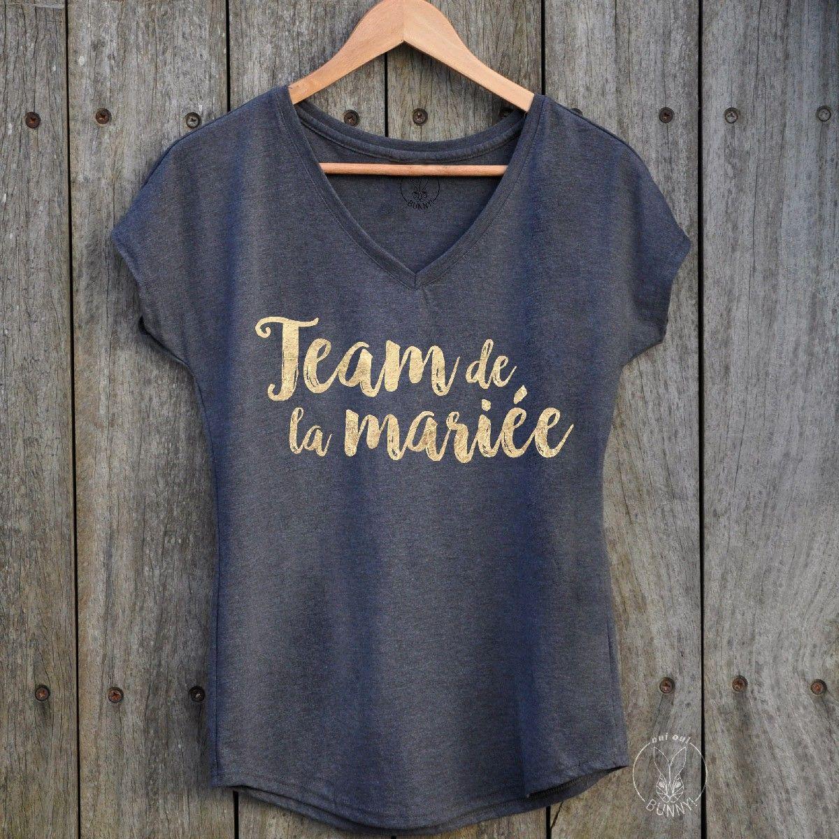b517f67cf7c T-Shirt Team Bride - Oui Oui Bunny   Mariage